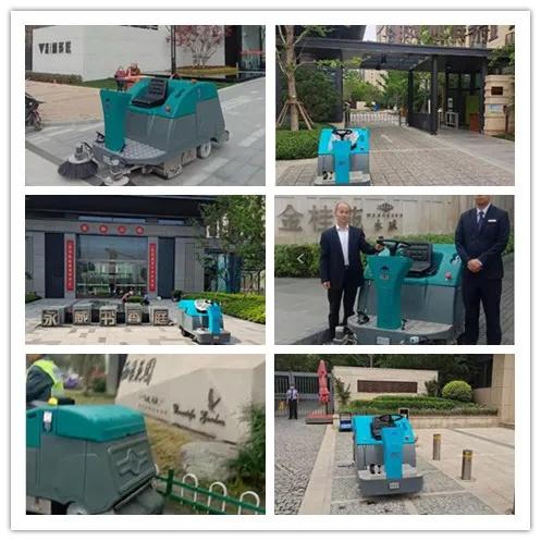 郑州知名物业永威热情分享电动扫地车使用感受 成清晨雨扫拖一体机忠实粉丝